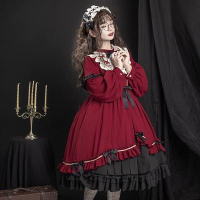 原创正版裙白菜价洛丽塔Lolita洋装op日常新年全套连衣裙秋冬日系