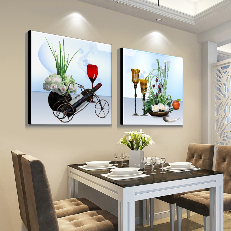 壁畫單幅飯廳墻壁裝飾現代簡約飯廳掛畫餐廳墻面裝飾餐廳裝飾畫