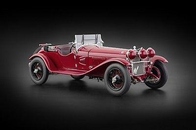 汽车模型 阿尔法罗密欧1930 6 c 1750大红色汽车仿真1:18车模礼物
