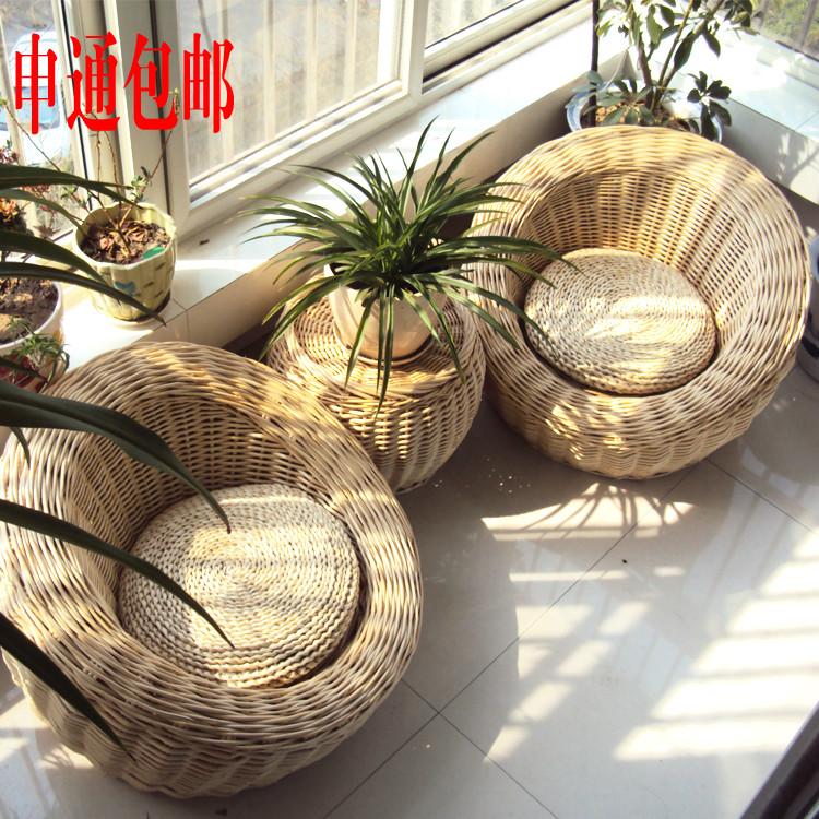 Ротанг балкон столы и стулья диван гостиная спальня случайный стул бездельник диван сельская местность модный для досуга диван сочетание