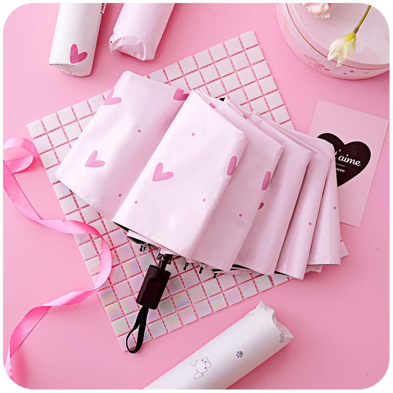热销2965件正品保证少女心ins折叠小清新简约太阳伞
