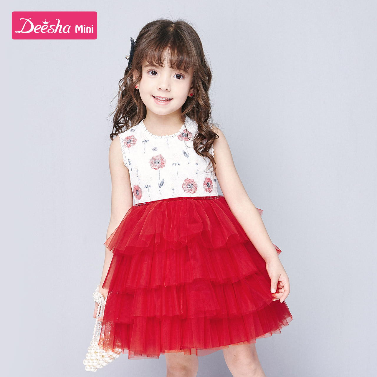 Descartes children's Dress Girls' baby dress summer new style air net red puffy yarn children's skirt princess skirt