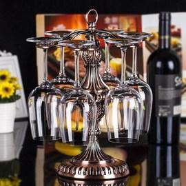 红酒杯架高脚杯倒挂架子铁艺吊杯酒瓶架葡萄酒杯架欧式挂杯包邮图片
