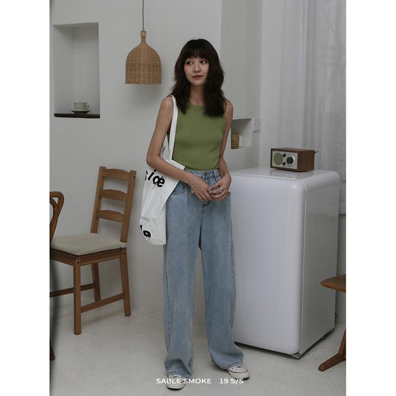 宽松薄款高腰直筒夏网红垂感牛仔裤129.00元包邮
