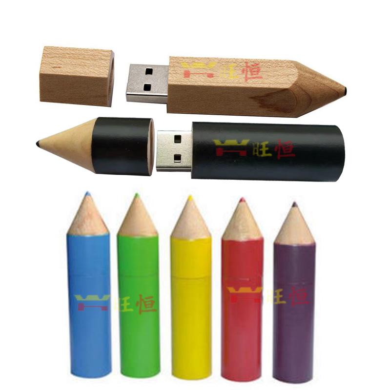 满39.00元可用1元优惠券铅笔u盘学生礼品毕业典礼文具铅笔厂u盘随身碟