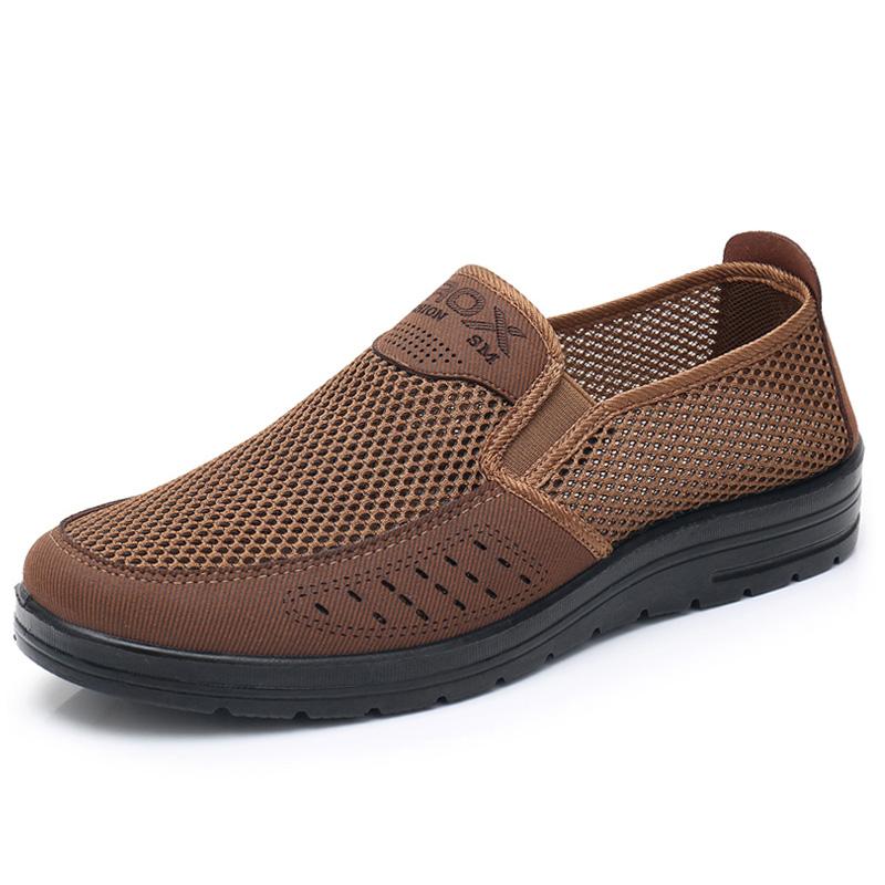 网面中老年透气轻便软底老北京布鞋