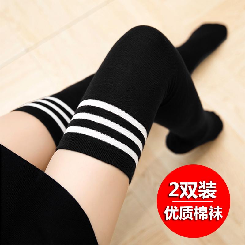 堆堆袜女秋季薄韩国潮全棉学院风日系中长筒袜子运动透气短靴袜套