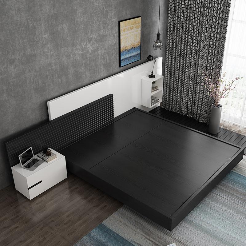 北欧榻榻米高箱储物床1.8米主卧现代简约创意时尚板式双人床1.5米券后1299.00元