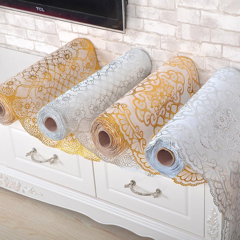 烫金PVC电视柜垫桌布免洗防烫茶几垫台布长方形盘垫欧式定制包邮