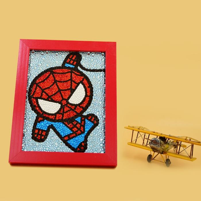 蜘蛛侠SPIDERMAN儿童卡通钻石贴画DIY十字绣相框大小钻满钻客厅大