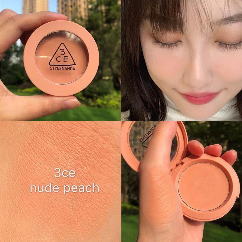 限5000张券3ce秋冬单色腮红mono pink南瓜色脏橘色吃胭脂淡粉色nude peach