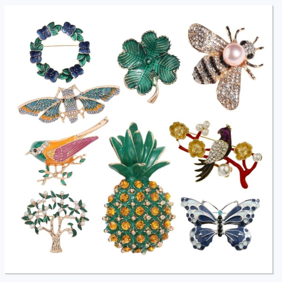 Luxurious Brooch Baroque retro court Vintage Enamel Brooch Pin bow brooch
