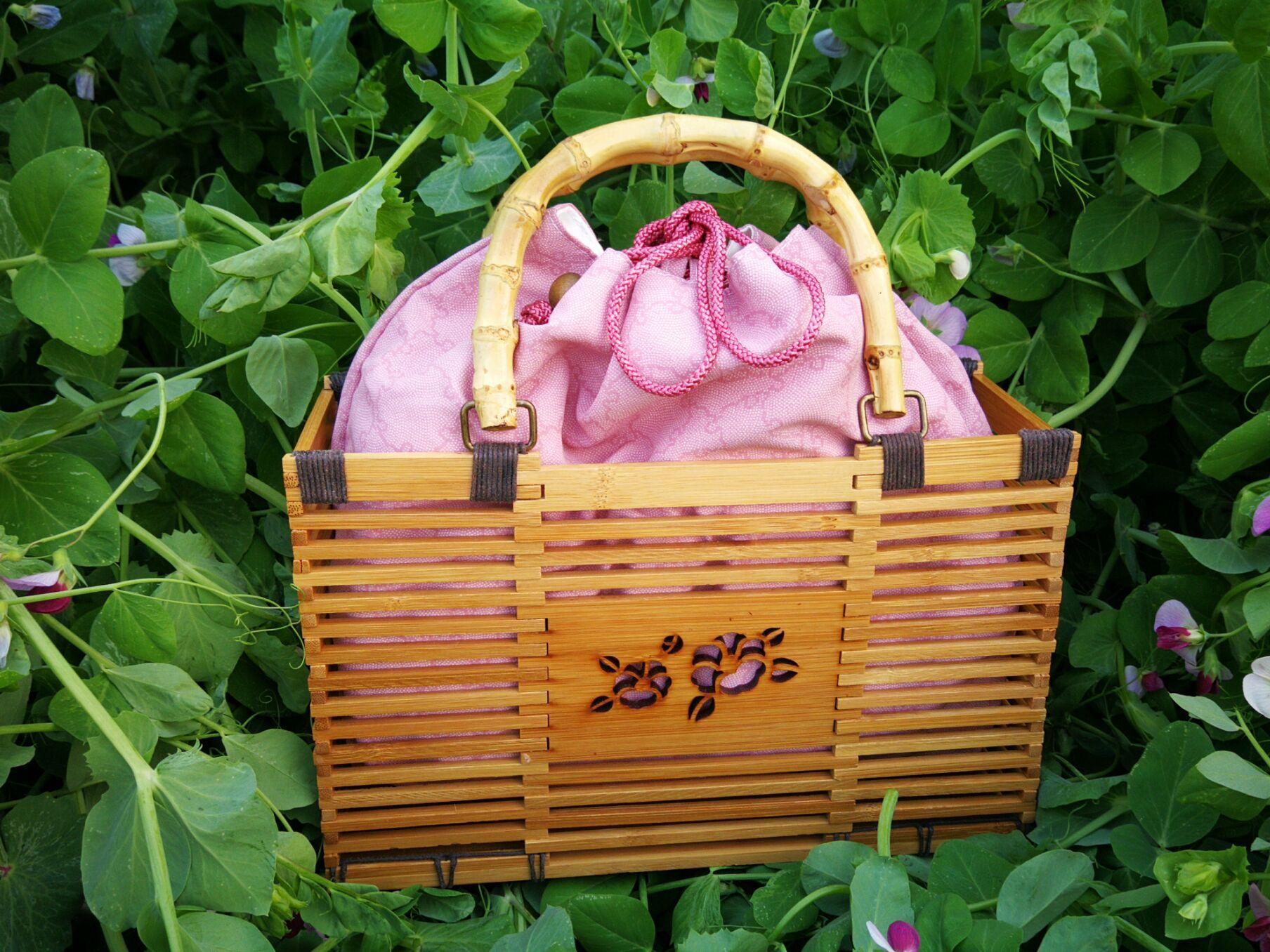 全手工编织的竹提包 和服包 手袋 零钱包 休闲包 通勤包D03