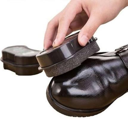 鞋擦皮鞋皮具保养增亮神器双面海绵擦鞋无色鞋蜡鞋油刷子