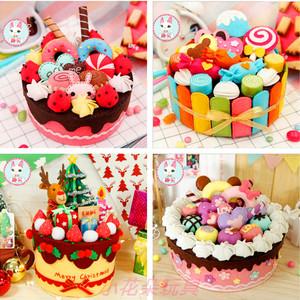 手工diy材料包 新年礼物盒不织布 布艺生日蛋糕巧克力糖果 收纳盒
