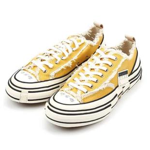 官網貨實拍吳建豪 xVESSEL手工帆布鞋硫化鞋黃色鄭號錫同款