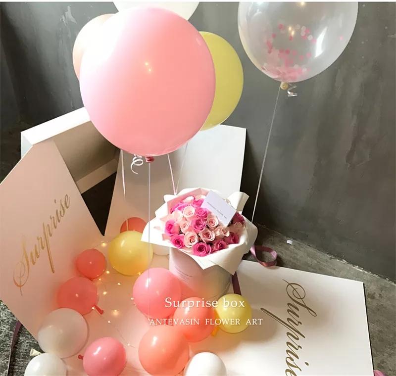 惊喜魔盒鲜花气球创意520节祝福西安生日鲜花同城速递专人送花
