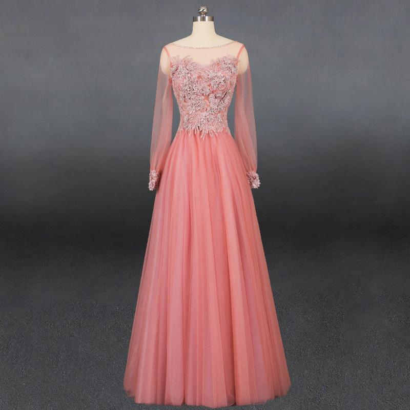 2020新款伴娘礼服敬酒长裙女结婚晚宴主持年会重工晚礼服小仙女