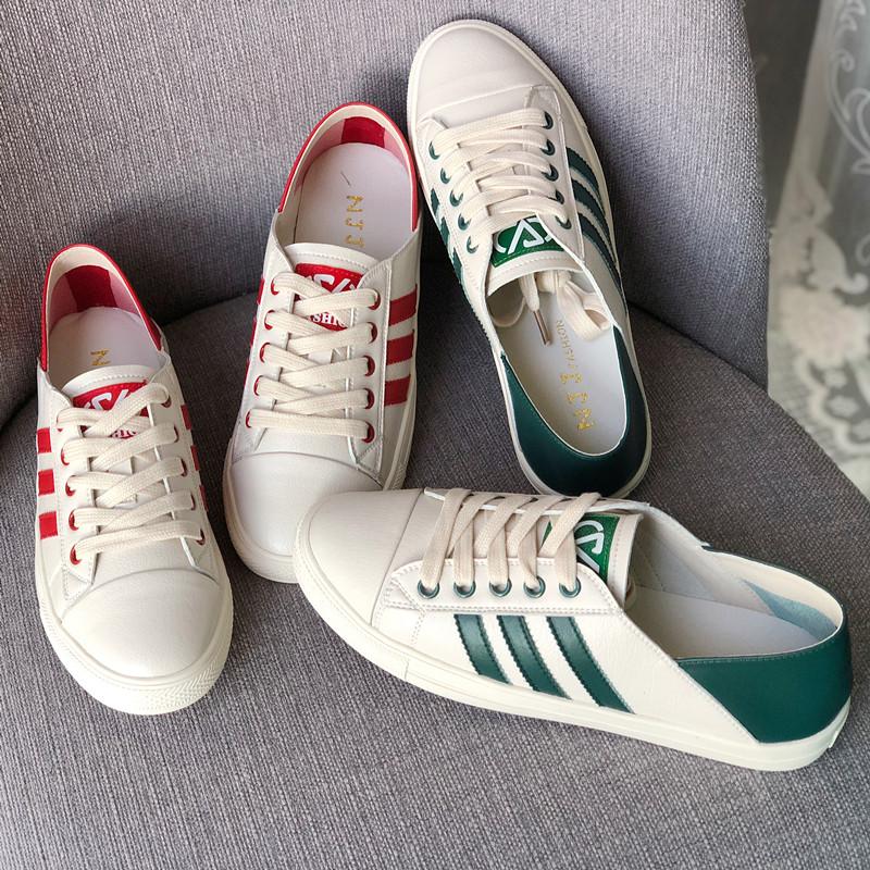 特价春秋新款女鞋真皮小白鞋低帮平底单鞋休闲时尚软底舒适运动鞋