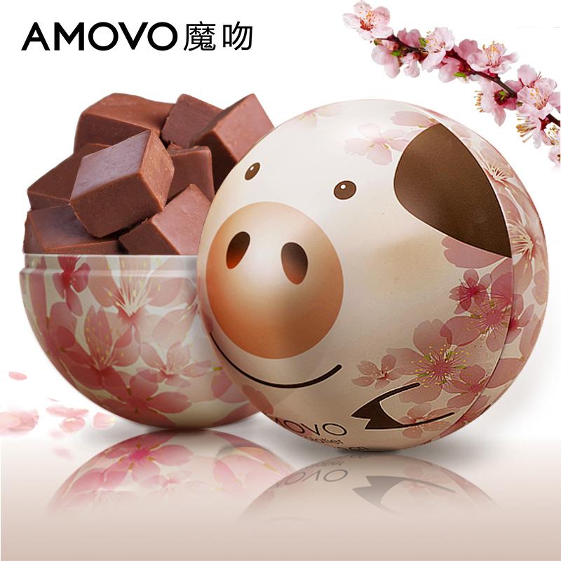 amovo魔吻桃粉猪生礼盒装预巧克力11-29新券