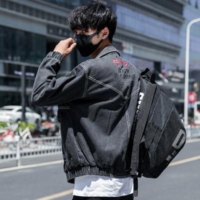【有视频】秋季潮男绣花牛仔夹克 款号J317 P85