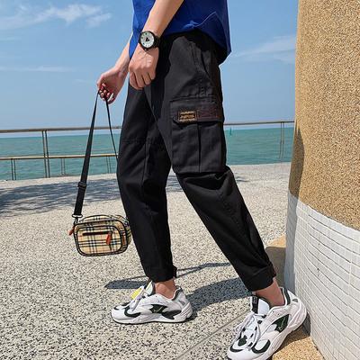 港风原创男士流行春季宽松大码小脚休闲裤 款号K568 P65【控88】