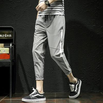 日系原创大码休闲男士日系黑墙春季小脚裤 款号K523 P50