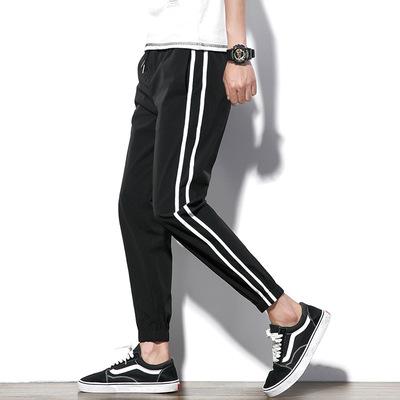 DSA007夏季男生收脚系带休闲九分裤有大码 款号K535 P50