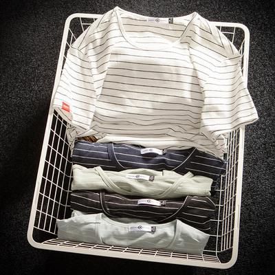 DSA0072018夏季男士新款休闲潮流大码条纹短袖T恤 款号T107 P30