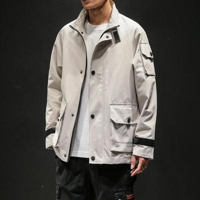 2019秋季新马切达日系大码男原创大口袋休闲工装夹克外套J963-P95