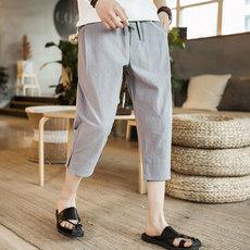 中国风夏季亚麻休闲裤