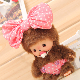 Japan genuine MONCHHICHI BCC Qiqi pink dot bow pendant