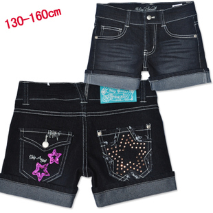 Summer clearance two female children s clothing girls big boy denim shorts casual pants Korean version of the lovely princess