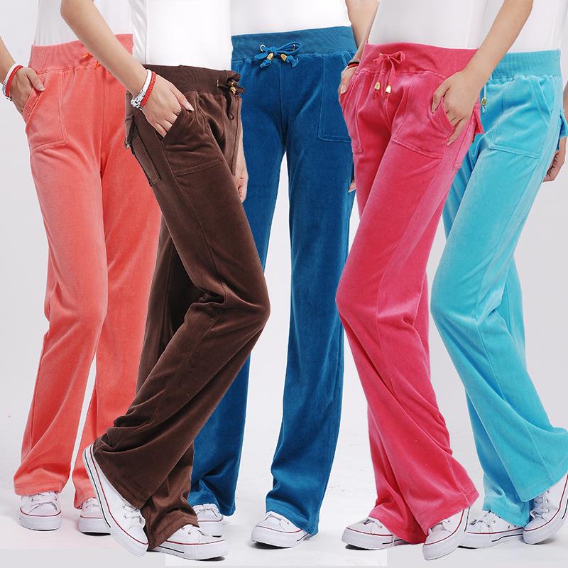 Новая Корейская версия бархатные брюки slim похудения спортивные штаны Золотой бархат брюки случайных брюки прямые ноги брюки гарем брюки