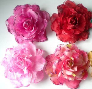 Korean large silk flower hair silk yarn yarn flower hair accessories bridal flower corsage brooch diameter of 15 performers