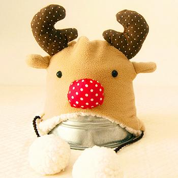 阿卡 麋鹿 護耳帽 新年 diy嬰兒用品寶寶帽子布藝材料包