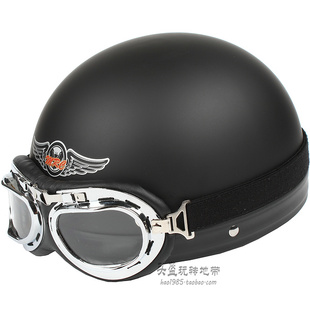 MRC matte black Harley helmet electric motorcycle helmet winter seasons helmet helmet summer helmet visor send