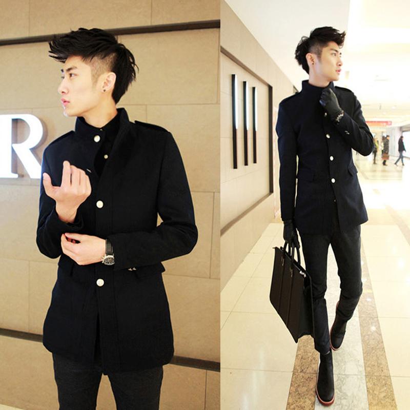 2015 элитного пальто мужской корейской версии себя в длинный Тренч Пальто 101P 50