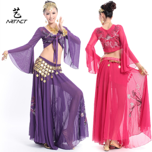 Arts and dynamic new upscale belly dance costumes suit Indian dance costume jacket embroidered gauze big skirt suit