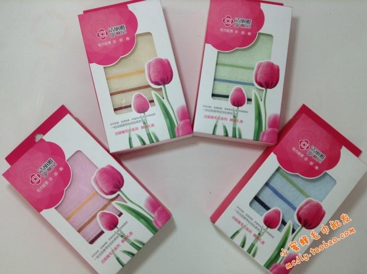 正品 洁丽雅毛巾6443单条装礼盒纯棉一条礼盒装批发 一等品