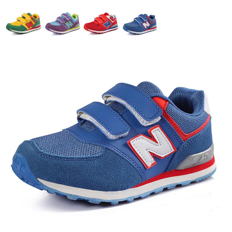 Новое на осень/зима кроссовки обувь мальчиков случайные детей обувь n слово скольжения кожа волна корейских девочек обувь