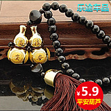 Gilded double gourd car pendant car accessories security security car ornaments access to the security car ornaments