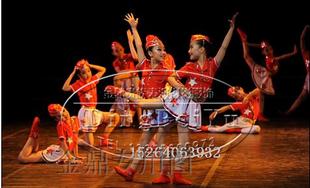 儿童舞台表演服 舞蹈演出服装 现代舞服女童大型舞台装时刻准备着