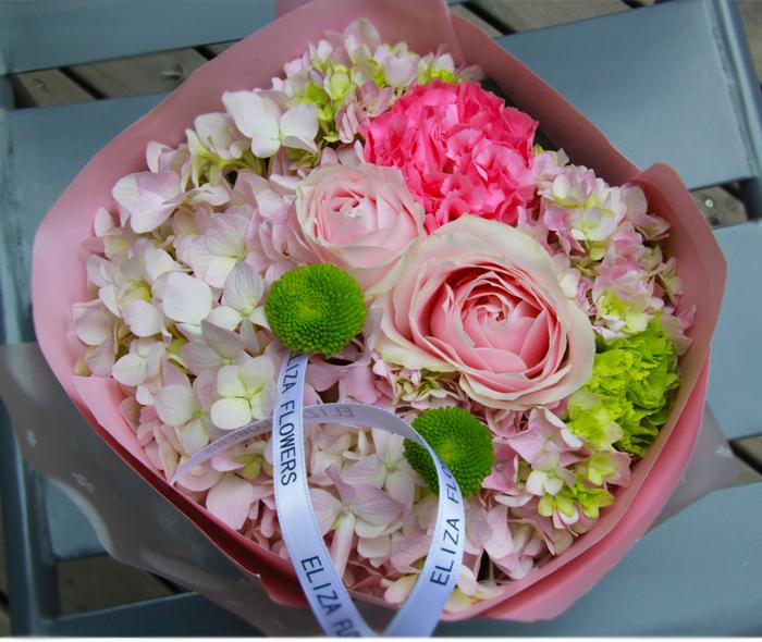 教师节新品粉色绣球花绿色雏菊迷你小盆花妈妈的鲜花礼物