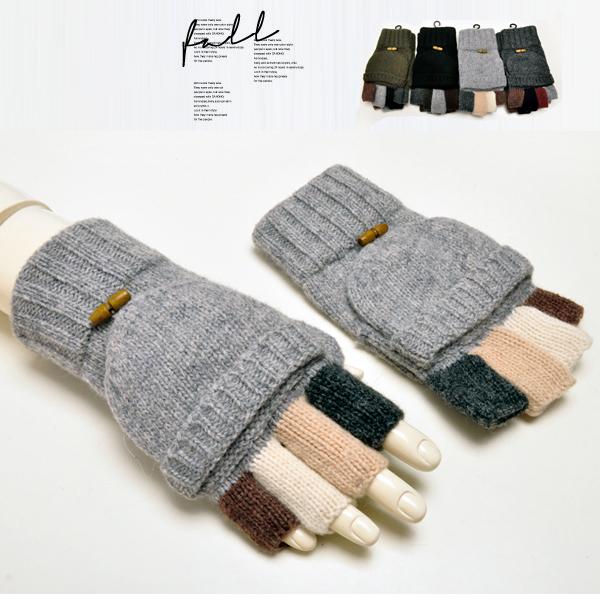 Ретро вяжущий Корейский Мужские перчатки и шерстяные зимние перчатки пальцев клавиатуры холодной теплые Мужские смесь перчатки