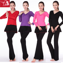 Nine dance authentic Autumn long-sleeved suit the new square dance Yoga gym suit Yoga clothes,