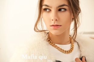 Mafia Miu Anello Necklace Chain necklace accessories bracelet set jewelry female short summer