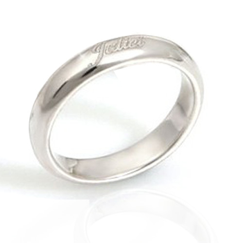 Diy925 silver custom name letter ring index finger tail ring mens and womens couple pair ring small finger engraving