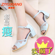 Peep toes in 2015 new crude Sandals shoes Rome female Velcro openwork mesh leisure shoes authentic