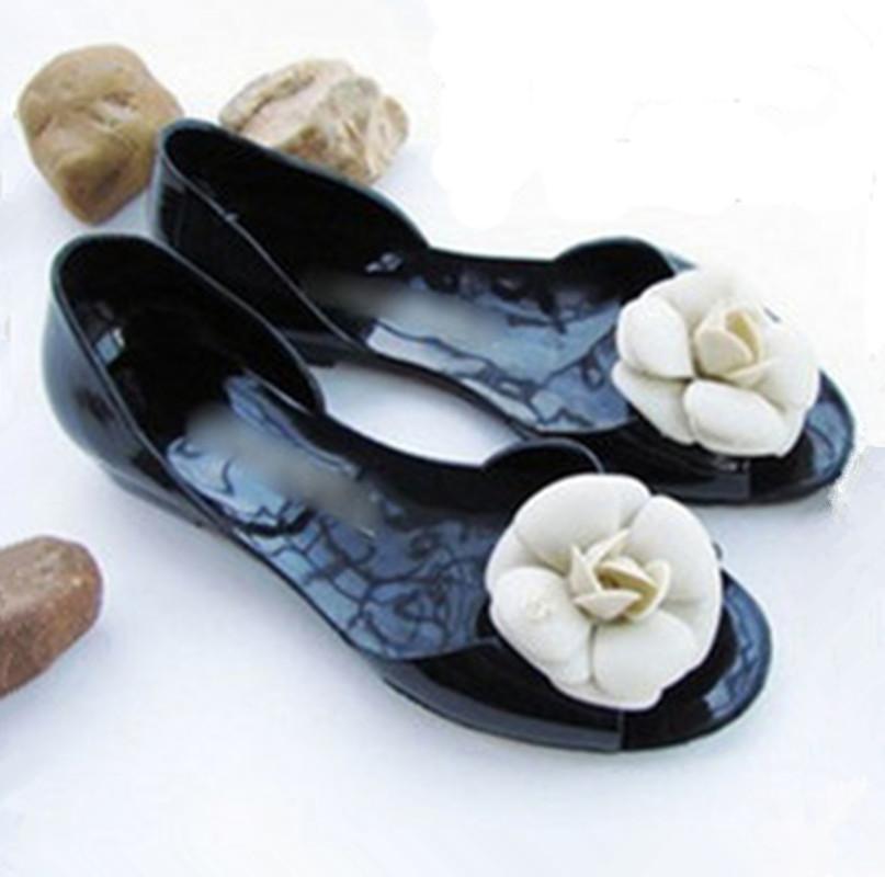 Мягкой очистки имени плоские сандалии Сандалии Камелия yuzui босоножки размер 40 красный желе сандалии пакеты с внешней торговли